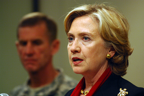 Clinton in Afghanistan